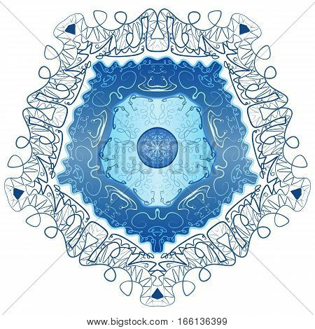 Abstract vector floral ornamental border. Lace pattern design. ornament. Vector ornamental border frame stock vector