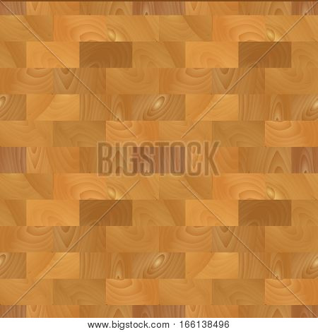 Realistic wooden parquet background seamless. Planks. Template for design