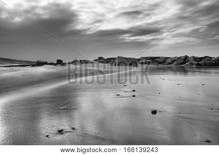 Ruin of a World war II bunker at the west coast of Jutland, Denmark