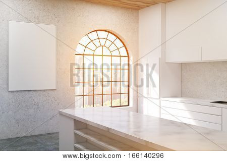 Kitchen With Arc Shaped Window, Toned