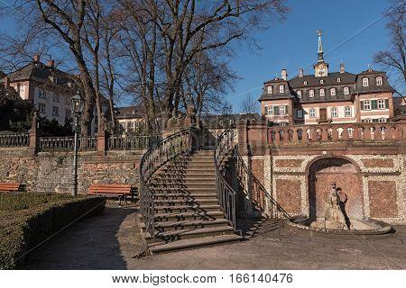 Bolongaro Palace in the Bolongaropark in Frankfurt Hoechst