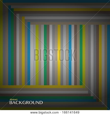 Striped multicolored pattern. Abstract background with vertical and horizontal lines. Vector illustration.
