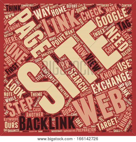 How To Make Your Backlinks Count I text background wordcloud concept