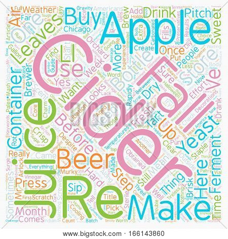 How To Make Your Own Cider text background wordcloud concept