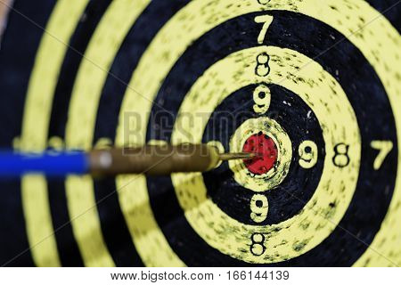 Abstract photo of darts. Perfect target hit.
