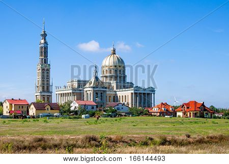 Sanctuary and Basilica of Our Lady of Sorrows, Queen of Poland, in Lichen. The biggest church in Poland and one of the largest in the World in a small village. Famous pilgrimage site.