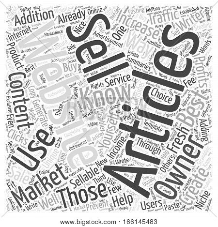 How to Market Sellable Articles Word Cloud Concept
