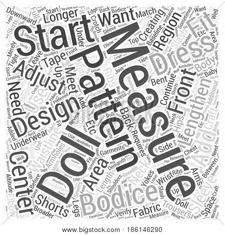How to Measure your Doll for Craft Word Cloud Concept