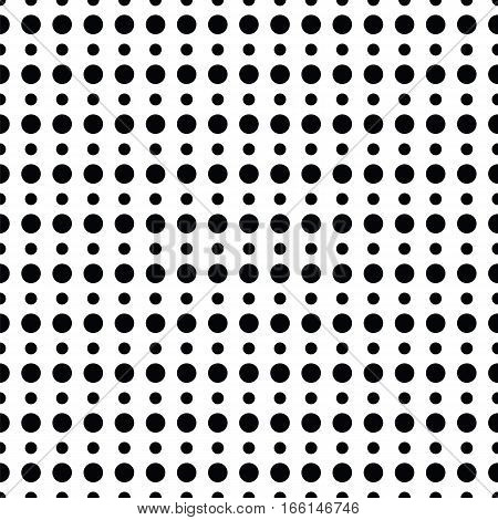 Geometric Line Monochrome Abstract Seamless Pattern With Dot