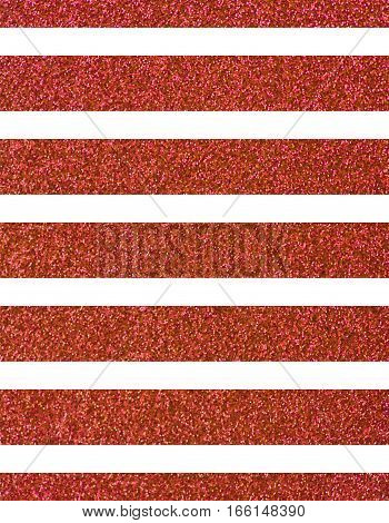 Wide glittery red lines on a white background. The texture of the glitter. Rectangular, vertical
