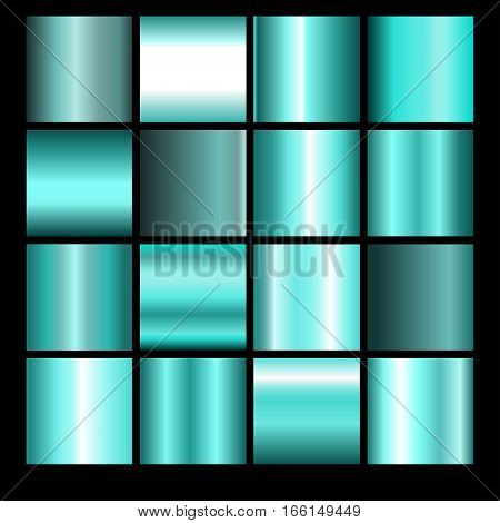 Collection of azure backgrounds. Set of azure gradients.Vector illustration