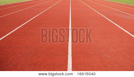 althletics sprint running lanes empty