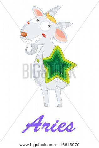 aries star sign from zodiac series 1