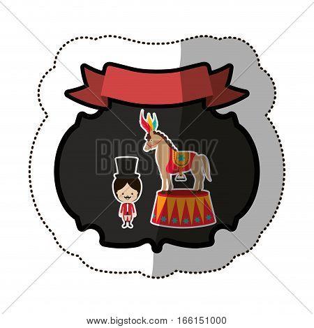 Circus tamer cartoon icon vector illustration graphic design