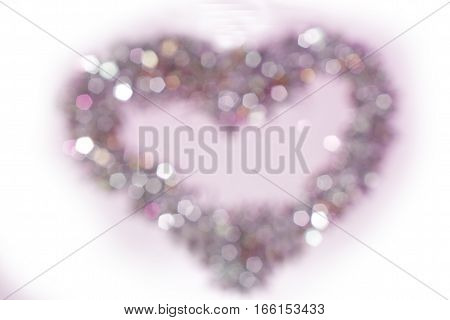 background light out of focus blur pink colored heart shape