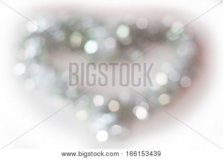 background light out of focus blur colored heart shape