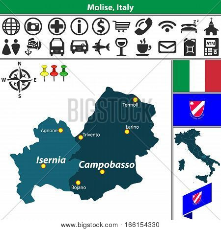 Molise With Regions, Italy