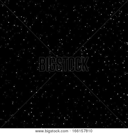 Night Sky with Stars, Starry Night Sky, Snow in the Night Sky
