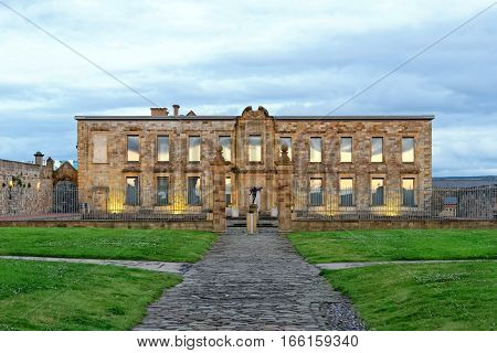 Cholmley House or Whitby Hall a banqueting house in Whitby on the North Yorkshire coast in the United Kingdom. poster