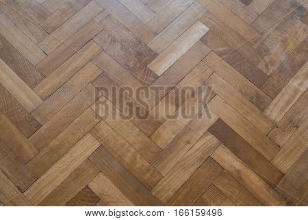 Herringbone Parquet Floor - Old Wooden Floor