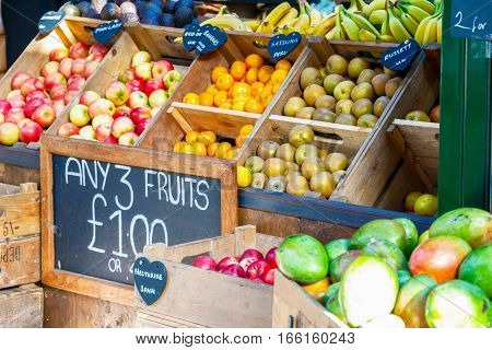 Fresh Fruits On Display