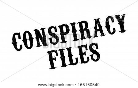 Conspiracy Files rubber stamp. Grunge design with dust scratches. Effects can be easily removed for a clean, crisp look. Color is easily changed.