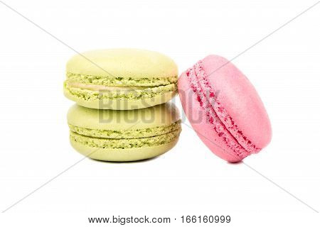 Pistachio And Pink Macaroon