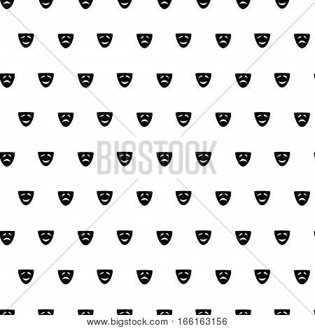 Vector hand drawn cartoon seamless pattern with comedy and drama mask. Cinema theater theme. Black and white comedy and drama pattern for paper textile polygraphy game web design