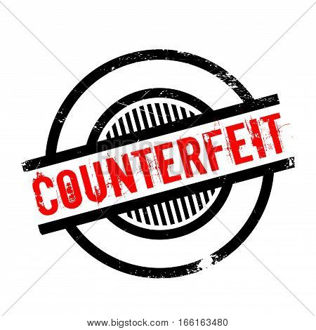 Counterfeit rubber stamp. Grunge design with dust scratches. Effects can be easily removed for a clean, crisp look. Color is easily changed.