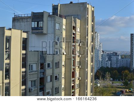 Residential Buildings In A City