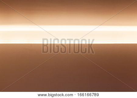 Horizontal Niche With Bright Inner Illumination