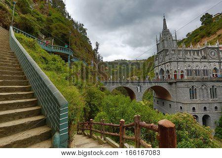 the Las Lajas sanctuary in Ipiales Colombia