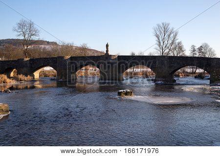 Bow Bridge / The Tauberbrücke Tauberrettersheim is a bow bridge that spans the Tauber in Tauberrettersheim