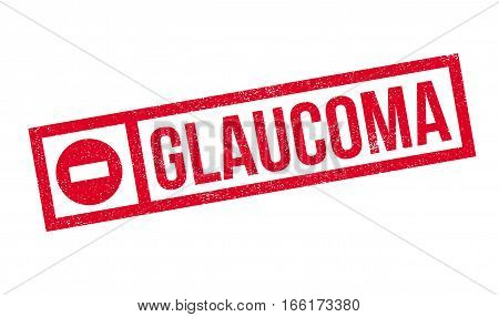 Glaucoma rubber stamp. Grunge design with dust scratches. Effects can be easily removed for a clean, crisp look. Color is easily changed.