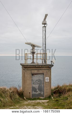 Clifftop Radar Station looking out to sea