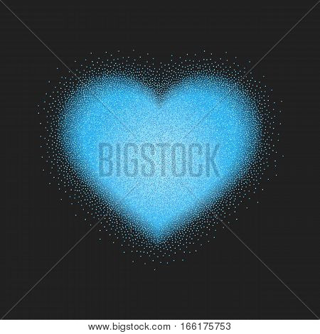Valentines Day vector illustration with stipple heart