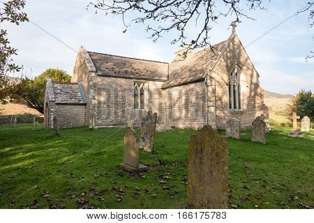 St. Mary's Church in the deserted village of Tyneham in Dorset,UK