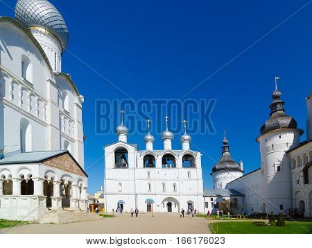 The Bell Tower Of The Assumption Cathedral In Rostov Kremlin