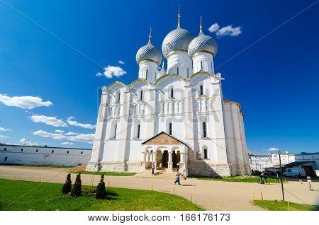 Assumption Cathedral In Kremlin Of Rostov, Yaroslavl Oblast, Russia.