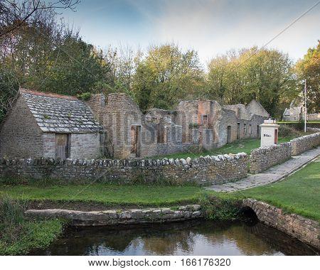 Tyneham village evacuated during the war in DorsetUK