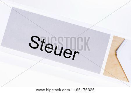 File folder tax (Steuer) in German language