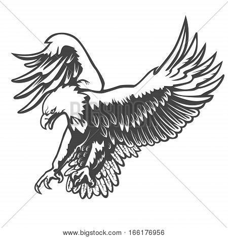 Eagle Emblem Isolated On White