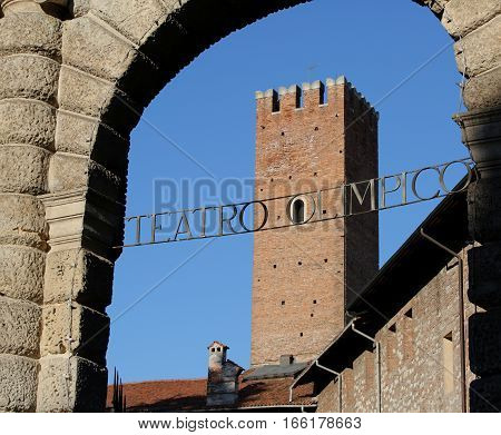 Written In Italian Teatro Olimpico That Means Olympic Theatre Th