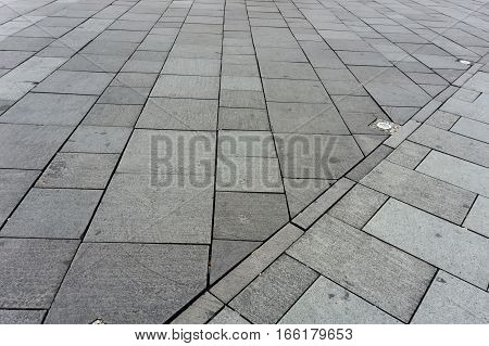 Combination of two pavement textures photo taken in Jakarta Indonesia java