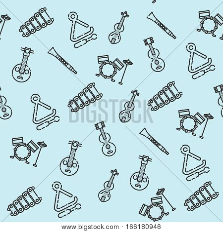 Musical instruments pattern. Vector illustration EPS 10