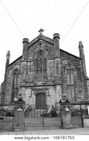 An external view of a church in Dunfermline