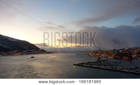Nice view of  Tromsø in the north of Norway