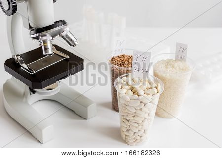 Tests for pesticides in cereal in at laboratory no one