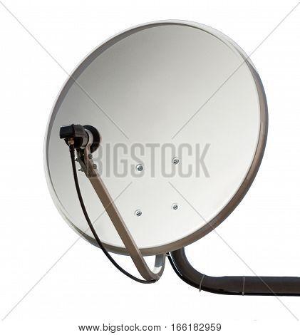 Satellite dish aerial antenna isolated on white background