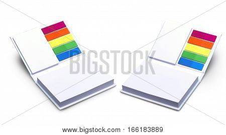 Blank Scratch Pad With Different Colored Stickers